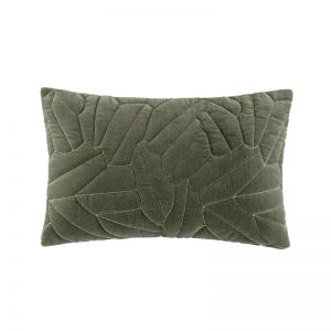 Salerno Cushion by Kas Australia | Olive