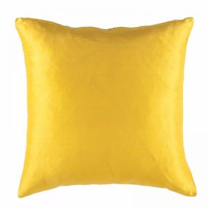 Samara 100% Silk Square Cushion by Kas Australia | Sunshine