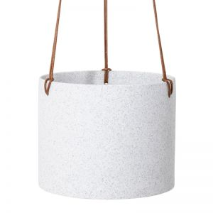 Sandstone Hanging Planter White