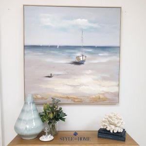 Sandy Shores | Canvas | Natural Frame