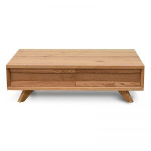 Santiago Coffee Table With Drawer   Rustic Oak