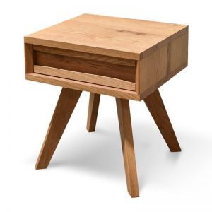 Santiago Lamp Side Table With Drawer | Rustic Oak | Interior Secrets