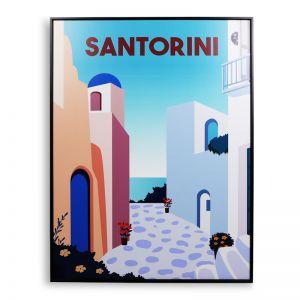 Santorini Vintage | 60x80cm | Outdoor UV Wall Art with Aluminium Frame