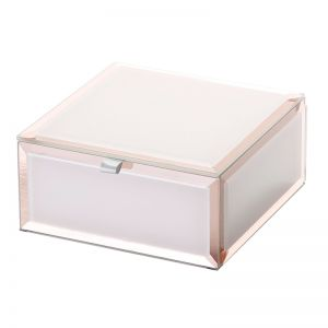 Sara Jewellery Box | Glass | Blush | Small | One Six Eight London