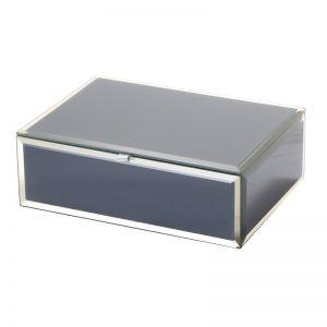 Sara Jewellery Box | Glass | Grey | Medium | One Six Eight London