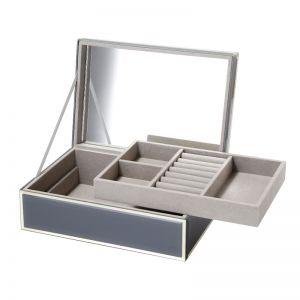Sara Jewellery Box | Glass | Grey | One Six Eight London