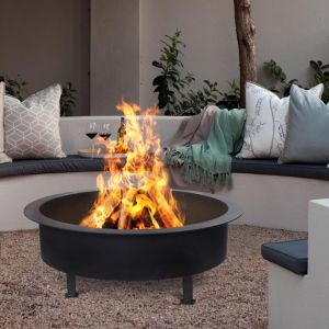 Savannah Fire Pit | Black | by Collective Sol