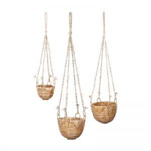 Savar | Set Of 3 | Handmade Hanging Planters