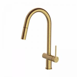 Scala Pullout Sink Mixer Living Tumbled Brass | Reece
