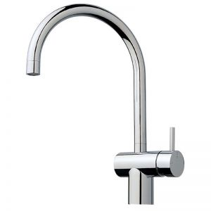Scala Sink Mixer Tap Large Curved Spout Right Hand Chrome