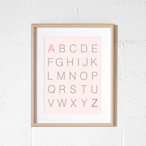 Scandi Alphabet | Poster Blush