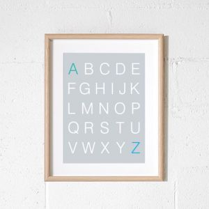 Scandi Alphabet | Poster Grey