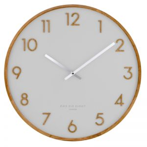 Scarlett -  35cm Cool Grey Silent Wall Clock