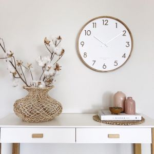 Scarlett | White | Silent Wall Clock | Various Sizes | by One Six Eight London