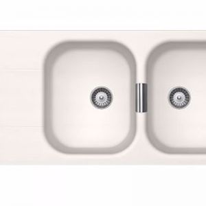 Schock Wembley Double Bowl | White