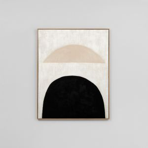 Sculpture Black 1 | Framed Hand Painted Reproduction