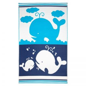 Sea Blue Stripes | Indoor Outdoor Kids Rug | Various Sizes