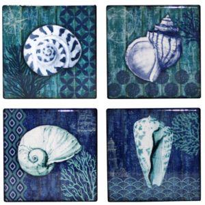Sea Shell Coasters | Set of 4 | by Hampton Lane