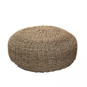 Seagrass Pouffe | Natural | by Raw Decor