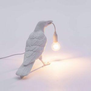 Seletti Bird Lamp Standing | Black and White