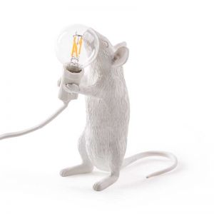 Seletti Mouse Lamp Standing | White
