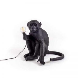 Seletti Sitting Monkey Table Lamp | Black