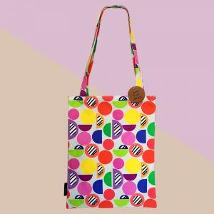 Serendipity | Geometric Vibrant Cotton Canvas Tote Bag