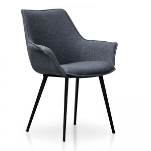 Set of 2 | Nola Plywood Dining Chair | Charcoal Grey