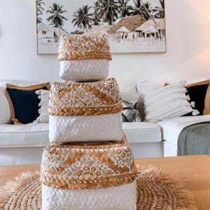 Set of 3 White Mandala Nesting Boxes| OMG I WOULD LIKE
