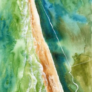 Seven mile beach | Original Watercolour Artwork