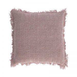 SHALLOW Waffle Cotton Cushion | Pink
