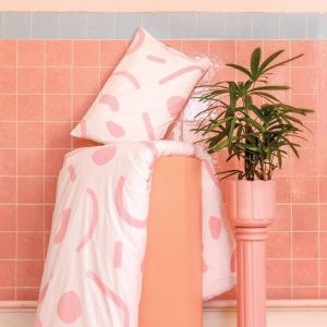 Shapes Pillowcase Set | Pink & Olive