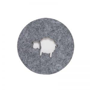 Sheep Grey Felt Coaster | Set of Four | CLU Living