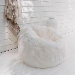 Sheepskin Bean Bag | Ivory | Huxford Grove