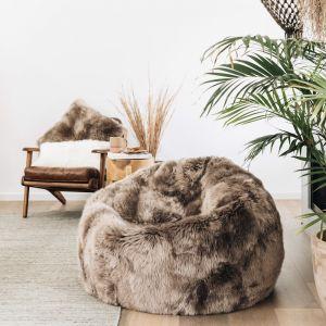 Sheepskin Bean Bag | Mocha | HUXFORD GROVE