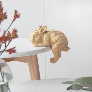 Shelf Bunny | Gold | White Moose