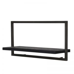 SHELFMATE |  Style A | Teak Black Stain & Smoked Iron | by dBodhi