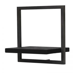 SHELFMATE | Style B | Teak Black Stain & Smoked Iron | by dBodhi