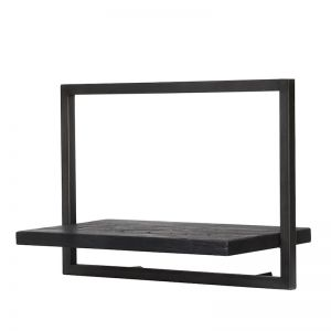 SHELFMATE |  Style C | Teak Black Stain & Smoked Iron | by dBodhi