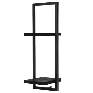 SHELFMATE |  Style D | Teak Black Stain & Smoked Iron | by dBodhi
