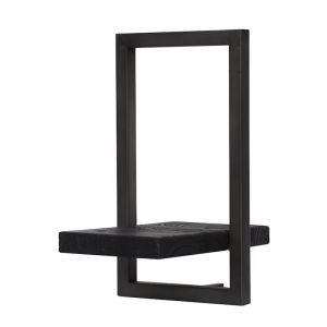 SHELFMATE |  Style E | Teak Black Stain & Smoked Iron | by dBodhi