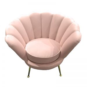 Shell Chair | Velvet | Rose Water