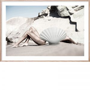Shell Life #1 | Framed Giclee Art Print by Wall Style