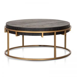 Shelley 100cm Round Coffee Table - Golden
