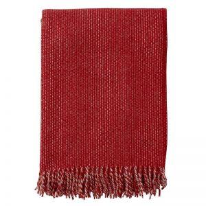 Shimmer Wool Blanket | Red
