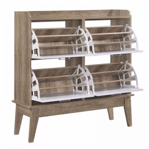 Shoe Cabinet Rack Organizer | Oak