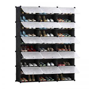 Shoe Rack Organizer Wardrobe with Cover | 10 Tier | 3 Column