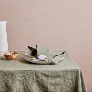 Shore Linen Tablecloth | Olive | 180 x 400cm