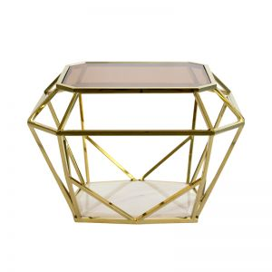 Siena Side Table | Tinted Glass