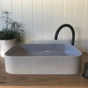 Sienna Full Basin by DLH Designs | Concrete